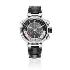 TAMBOUR GRAPHITE CHRONOGRAPH GMT 44 in MEN's TIMEPIECES & JEWELRY TIMEPIECES collections by Louis Vuitton