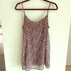 //floral print sun dress// Light weight, adjustable straps, Flowy Brandy Melville Dresses Mini