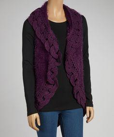 Chain link wool blend vest