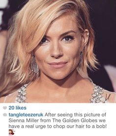 Another trendy Bob - sienna Miller looking absolutely outstanding x