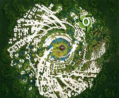 Plans for Auroville, India