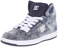 DC Womens Rebound High SE Skate Shoe Denim 8 M US ** Click image to review more details.