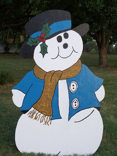 48 snow man christmas yard art decoration by handmadesbykaren