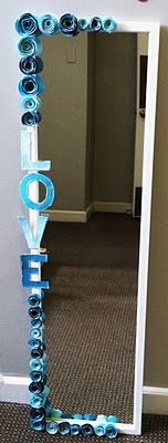 DIY reminder to love what you see in the mirror.