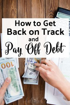 Has your spending gotten a little out of control lately? Get back on the debt payoff track and start paying off debt again with these tips today!#payoffdebt #debt
