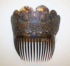 Comb  Date:late 18th centuryCulture:AmericanMedium:tortoiseshell