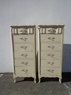 2 French Provincial Lingerie Chest Tall Dresser by DejaVuDecors