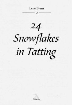 VALYS HANDMADE: TATTING SNOWFLAKES -