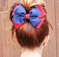 Laço para cabelo navy