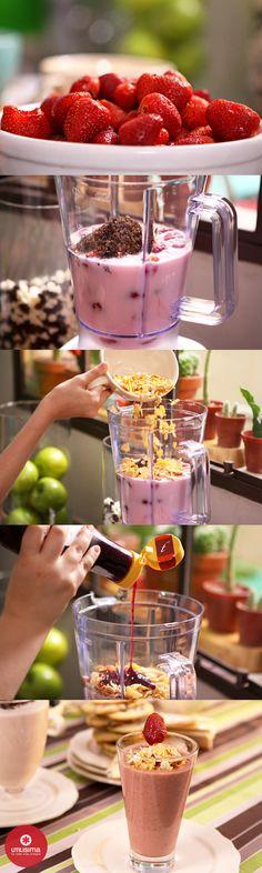 Licuado de frutillas y yogur, por Santiago Giorgini. http://www.utilisima.com/recetas/10438-licuado-de-frutillas-y-yogur.html