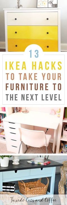 With a destructive tuxedo cat and a propensity for being clumsy and spilling things myself, I prefer to keep my apartment furnished with budget-friendly furniture that I don't have to worry about too much. I love Ikea furniture, but sometimes you want home decor that looks more unique or matches the rest of your decorating. Here are 13 Ikea hacks to take your furniture to the next level. #ikeahacks #ikea #ikeaideas #ikeatips