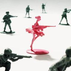 "My husband and I have a tradition of ""army men battles"" around the house - this image gives me an idea for creating alternate pieces to add to the mix :)"