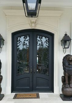24 ideas for double door design modern entrance Arched Front Door, Iron Front Door, Exterior Front Doors, Glass Front Door, Main Entrance Door, Modern Entrance, Double Door Design, Main Door Design, Porch Doors