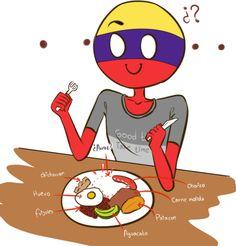 Colombia Country, Mundo Comic, Country Art, Countries, Chibi, Anime, Fandoms, Fan Art, Manga