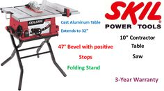 Top Power Tools Review: Best Contractor Table Saw Cabinet Table Saw, Jobsite Table Saw, Contractor Table Saw, Portable Table Saw, Aluminum Table, Generators, Power Tools, It Cast, Top