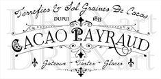 FRANÇAIS pochoir  Mylar de 24-7 mil de cacao  chocolat  12