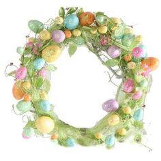 "RAZ Imports - 20"" Glittered Easter Egg Wreath"