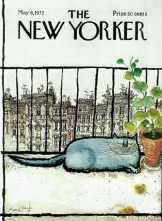 Ronald Searle. cover of The New Yorker, May 6, 1972. - Animalarium