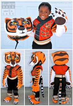 Master Tigress Costume Tutorial with DIY Instructions #Costume #Halloween | Chocolate Hair / Vanilla Care