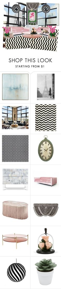 """""""Modern Loft"""" by fashioncoloristnyc ❤ liked on Polyvore featuring interior, interiors, interior design, home, home decor, interior decorating, John-Richard, Safavieh, J. Queen New York and Nearly Natural"""