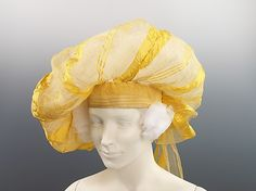 Silk turban ca. 1820, British - in the Metropolitan Museum of Art costume collections.