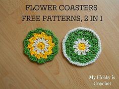 Crochet Daisy/Flower Coaster- Free Pattern with Photo Tutorial Crochet Daisy, All Free Crochet, Easter Crochet, Crochet Home, Crochet Crafts, Crochet Flowers, Crochet Doilies, Fingerless Gloves Crochet Pattern, Crochet Hot Pads