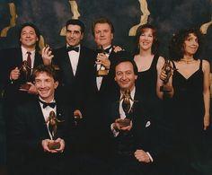 Fabulous Canadian Comedians: The cast of Second City - Tony Rosato, Eugene Levy, Dave Thomas, Catherine O'Hara, Andrea Martin, Martin Short and Joe Flaherty - win the Earle Grey Award.