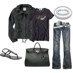 black + jeans = love Hahaahhah I have that shirt!!