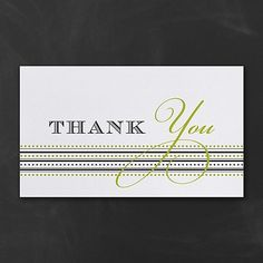 This striking thank you card is one of our best sellers. It showcases a combination of dots and lines that create the base for a snappy 'Thank You' message. Made from recycled paper by manufacturers using renewable energy sources. Thank You Messages, Thank You Notes, Thank You Cards, Renewable Sources Of Energy, Dots, Paper, Create, Appreciation Cards, Stitches