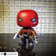 custom red hood pop vinyl by juztadude