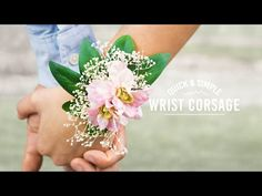 DIY Elastic Wrist Corsage | Quick and Simple - YouTube