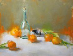 Aura of Orange by Pamela Blaies, Oil, 16 x 20 Flora Flowers, Summer Fresh, Rose Oil, Orange Oil, Fruit Art, Art Studies, Flower Art, Still Life, Red Roses