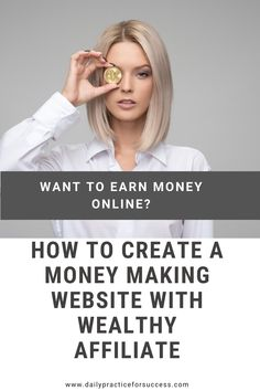 How to create a Money Making website with Wealthy Affiliate Sales And Marketing, Marketing Tools, Internet Marketing, Internet Entrepreneur, Seo Keywords, Before Midnight, Search Engine Marketing, Seo Tips, Earn Money Online