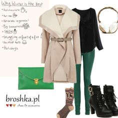 Early winter outfit made by broshka.pl handmade for your shoes and bags. <3