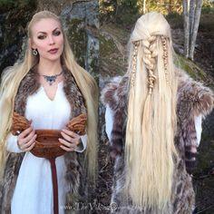 The Viking Queen Viking Braids, Viking Hair, Viking Dress, Viking Queen, Viking Warrior, Viking Woman, Pagan Wedding, Viking Wedding, Viking Makeup