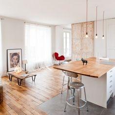 Stylisme épuré dans un loft parisien