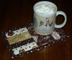 Mug Rug Inspiration. Great gift idea. Make sets for different holidays, or just a just because set for yourself.