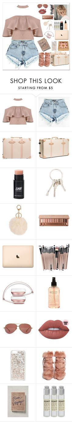 """✈️🎟TRAVEL🎟✈️"" by romidawsonaguila ❤ liked on Polyvore featuring Globe-Trotter, claire's, Givenchy, Armitage Avenue, Urban Decay, philosophy, Linda Farrow, Lime Crime, Kate Spade and Gianvito Rossi"