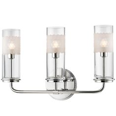 Modern Honeycomb Glass Vanity Light - 3 Light