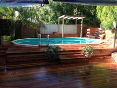 building deck around above ground pool youtube - Yahoo Image Search Results Above Ground Pool Decks, In Ground Pools, Deck Over, Timber Deck, Room Paint, Image Search, Building, Outdoor Decor, Pool Ideas