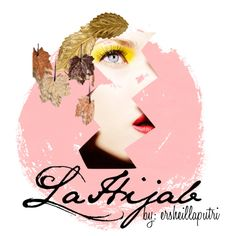 """logo of lahijab"" by ersheillaputri on Polyvore"
