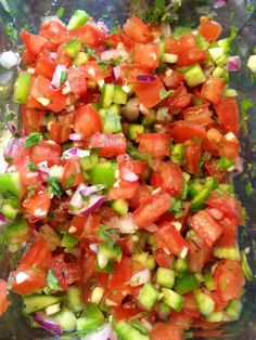 Pico de Gallo has become one of my diet staples. I keep a batch of it in the fridge at all times, because it adds flavor to basically anything for just 20 calories for a 1/4 cup serving. Put it o...