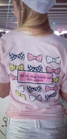 Delta Gamma Recruitment Shirt Bid Day Shirt Sorority Recruitment. And a bow in the hair to complete the look!