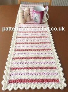 Free crochet pattern dining table runner usa