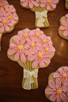 Beautiful Bouquet Cookies~ By The Hungry hippopotamus, pink