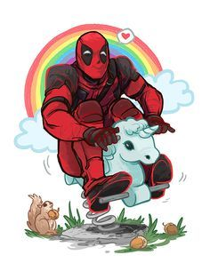 The best thing about Deadpool is that anything and everything is pretty much canon Maximum effort! Deadpool Et Spiderman, Deadpool Unicorn, Deadpool Fan Art, Deadpool Funny, Deadpool Quotes, Deadpool Tattoo, Deadpool Costume, Deadpool Movie, Deadpool Painting
