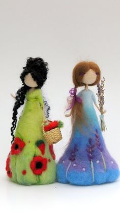 Puppe Nadel gefilzt Lavendel Puppe die Lavendel-Puppe Doll needle felted lavender doll the lavender Needle Felted, Wet Felting, Poppy Doll, Wool Dolls, Rag Dolls, Needle Felting Tutorials, Felt Fairy, Art Textile, Waldorf Dolls
