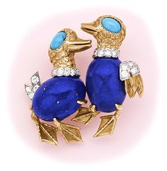 Lapis Lazuli, Persian Turquoise, Diamond and Yellow Gold -CARTIER Paris.