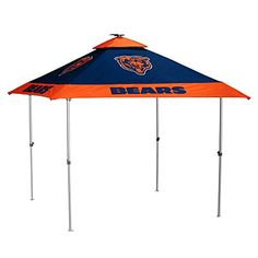 NFL Chicago Bears Pagoda Tent Pagoda Tent, Navy, One Size  http://allstarsportsfan.com/product/nfl-chicago-bears-pagoda-tent-pagoda-tent-navy-one-size/  LED lights around the inside Single person setup Removable Solar panel