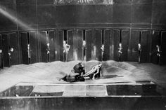 Scene from Nikoläi Gogol's Le révizor, directed by Vsevolod Meyerhold, 1928